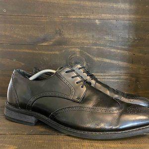 Joseph Abboud Black Wingtip Oxford Dress Shoes 12D